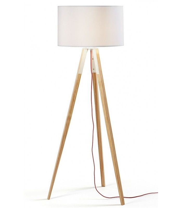 151 uzagui design moderne blanc cran naturel bois lampadaire centrolandia. Black Bedroom Furniture Sets. Home Design Ideas