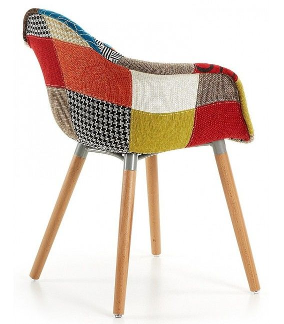 Chaise patchwork kevya centrolandia for Chaise patchwork