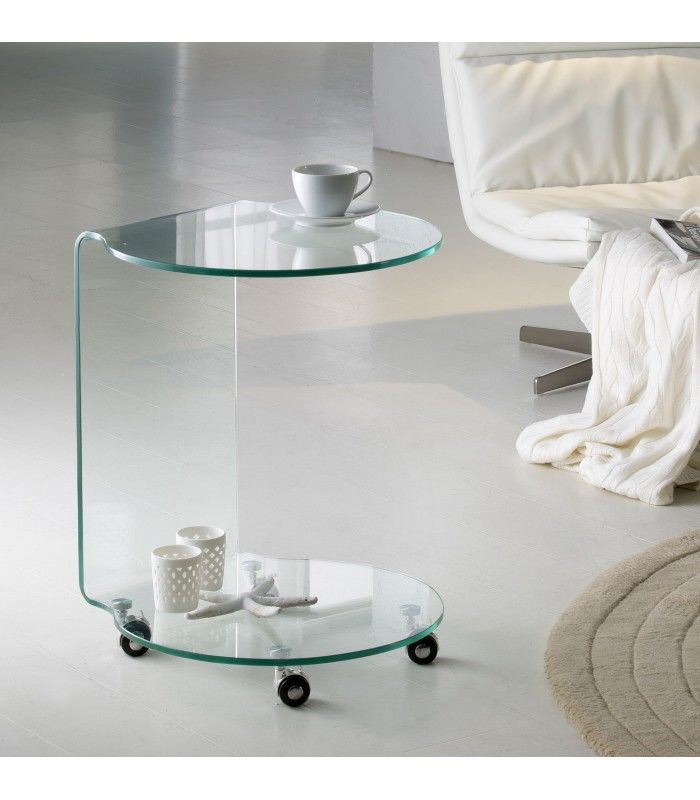 schuller auxiliaire verre ronde table diseno centrolandia. Black Bedroom Furniture Sets. Home Design Ideas