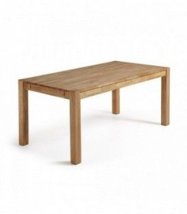 Table de INDRA 120 (200) x 75 chêne naturel extensible