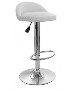 Tabouret de cuisine chrome LIVERIO, synthétique