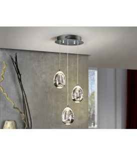 Schuller SPRAY 25 chrome de PLAFOND LAMPE 3LED
