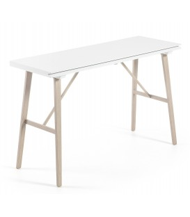 ARYON console table 130 x 45 (90) x 76 extensible, blanc