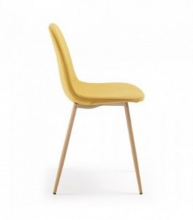 Moutarde de LISSY chaise naturel tissé