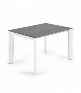 ATTA Mesa extensible 120(180)x80 blanco, porcelánico vulcano ro