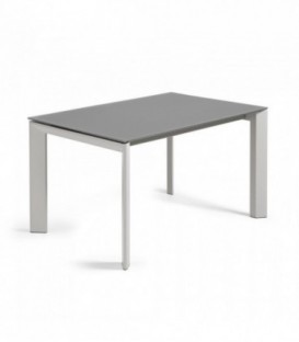 ATTA Mesa extensible 140(200)x90 gris, cristal gris