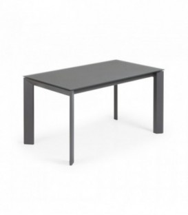 ATTA Mesa extensible 140(200)x90 antracita, cristal gris oscuro