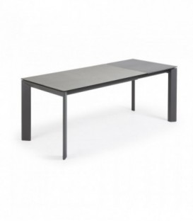 Table ATTA 140 (200) x 90 anthracite, plomb hydra porcela