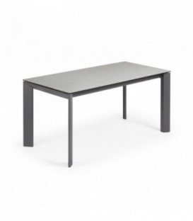 Table ATTA 160 (220) x 90 anthracite, plomb hydra porcela