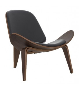 Salon chaise noyer CH07, réplique Wegner