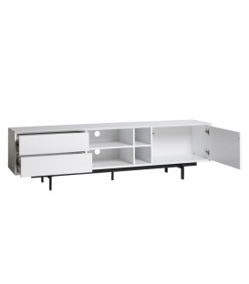 MUEBLE TV BEATRIZ 1P 2C 180 CM BLANCO