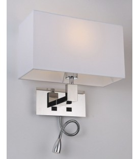 Lampe design CAROLINE, chrome, écran, flexo led applique murale