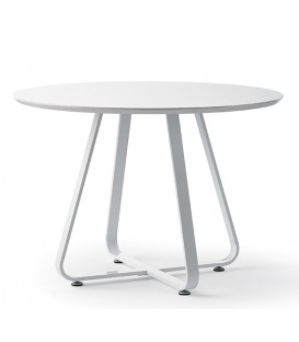 Table ronde moderne KATI 110, blanc