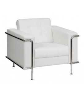 Fauteuil design contemporain Leflor, similpiel