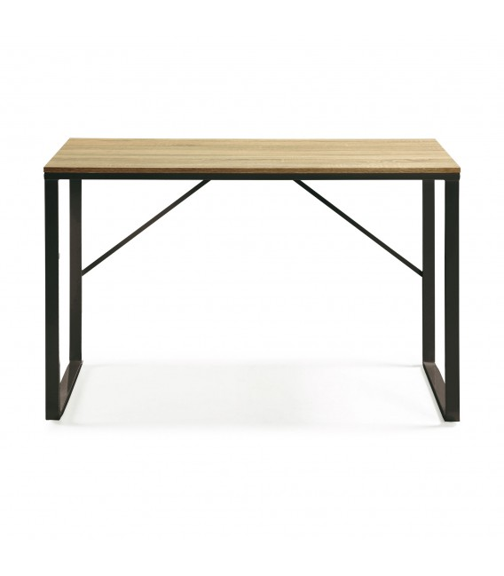 LISBET Escritorio 120x60 metal negro dm color natural