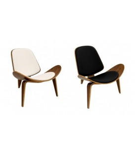 Lounge Chair Ch07 Pau Rosa, Replica Hans J. Wegner