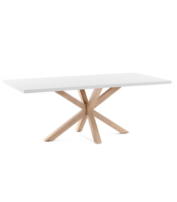 Mesa Arya 180x100, natural, blanco