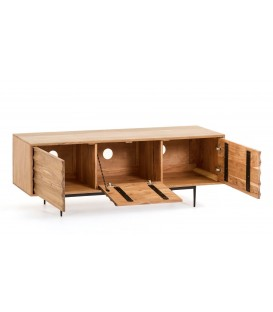 Mueble TV Delsie 147, madera natural.