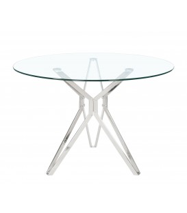 Table ronde de crystal River 110, acier