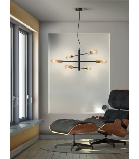 LAMPE 6 Led-SOHO, NOIR, OR