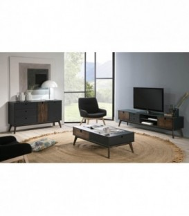 MUEBLE TV KIARA 180x37, GRIS ANTRACITA