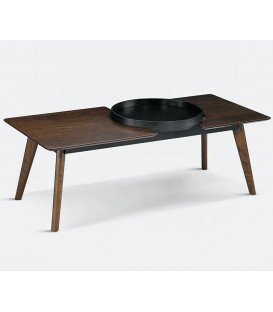 CENTRE de la TABLE INDE 120 cm NOYER/NOIR