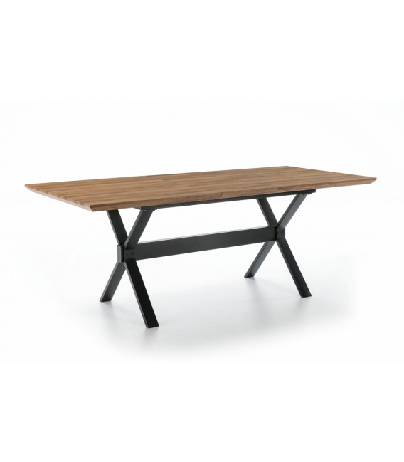 MESA EXTENSIBLE DISEÑO INDUSTRIAL HOLE 140(180)x90, Roble