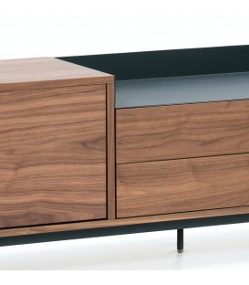 TEULAT MUEBLE TV VALLEY 180x40, NOGAL, AZUL