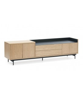 TEULAT MUEBLE TV VALLEY 180X40, ROBLE, AZUL