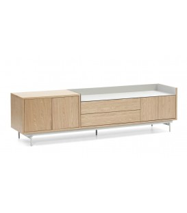 TEULAT MUEBLE TV VALLEY 180X40, ROBLE, GRIS