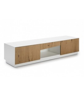MUEBLE DE TV ONE 180x47, blanco, roble