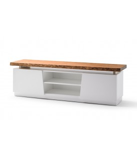 MUEBLE DE TV NÓRDICO NAYRA 190x47, blanco, roble