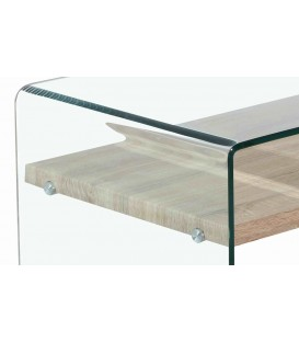CENTRE de TABLE en VERRE NEVADA 110x35
