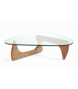 CENTRE de TABLE NOGU 126x60, verre, fresno