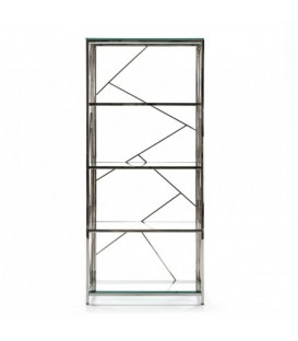 ESTANTERIA CRISTAL METAL CROMADA VILEY 180x80