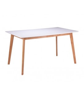 MESA NORDICA MAREI 140x80, blanco, roble.