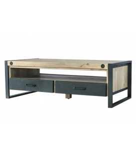 MESA CENTRO INDUSTRIAL BOSTON 120x60, acacia, metal
