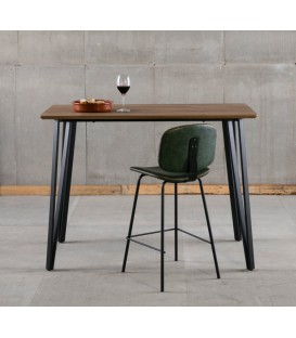 MESA BAR ALTA CANDI 140x70, ROBLE, NEGRO