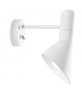 Aplique de pared JACOBSEN, metal blanco