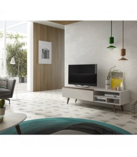 MUEBLE DE TV NORDICO ASPEN 195x47, blanco, natural