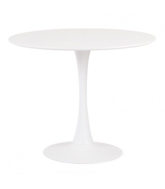 Mesa TULIP 80 E. Saarinen, base de metal branco