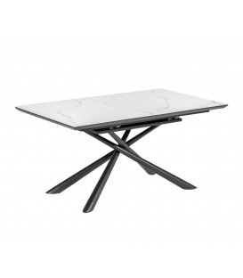 Table extensible Theone 160 (210) x90, porcelaine blanche