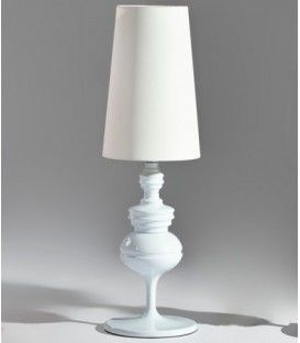 Lampe de Table design moderne Jane,blanc, écran blanc