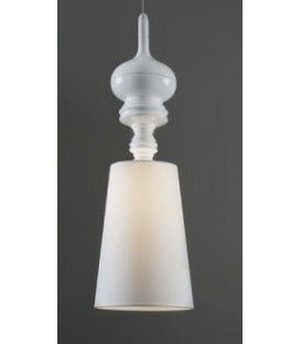 Lampe suspension design, moderne Jane, Blanc, écran Blanc