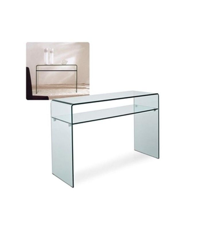 console de foyer de verre design minimaliste centrolandia. Black Bedroom Furniture Sets. Home Design Ideas