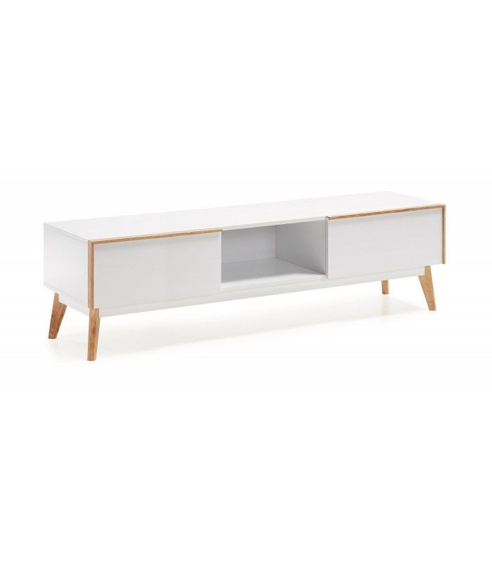 Mueble tv de inspiraci n nordica meety 150x40 dm lacado - Dm lacado blanco ...