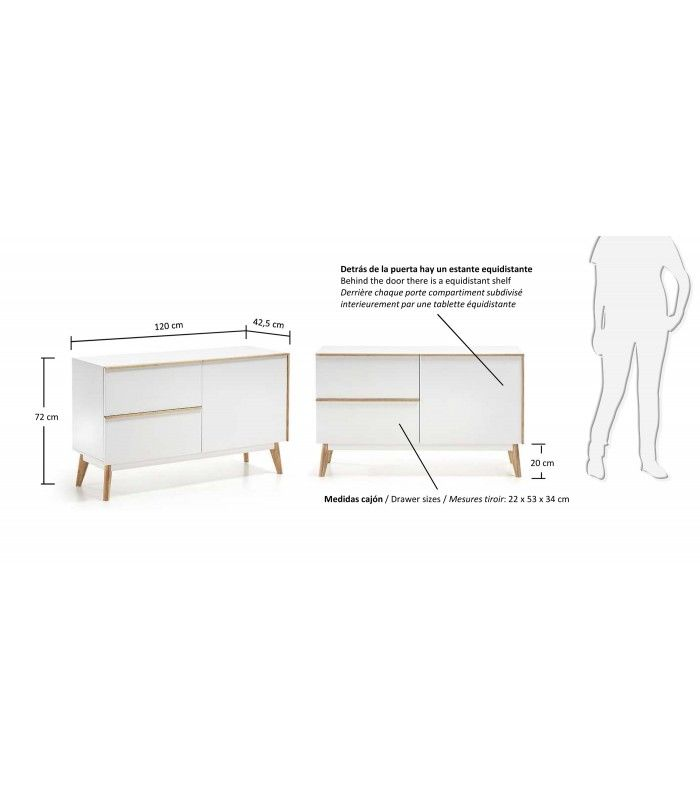 Design nordique montminy 120 x 40 dm laqu matt white for Architecture nordique