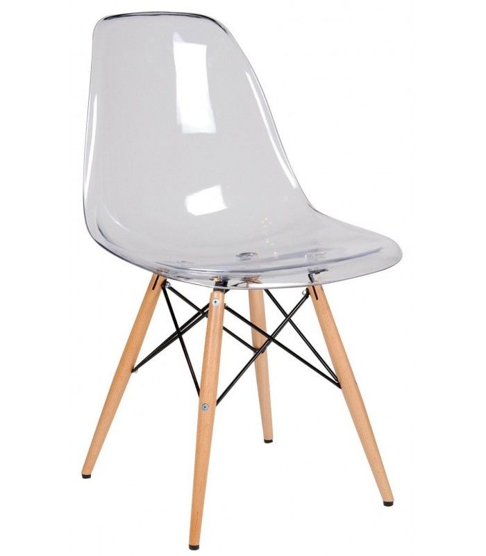 Design conception transparente tour dinant la chaise for Chaise bascule transparente