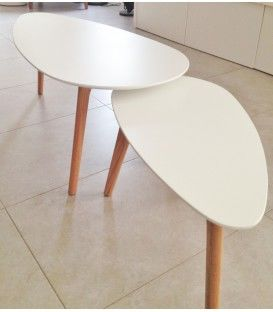 Set de 2 tables de chevet du design nordique Alice