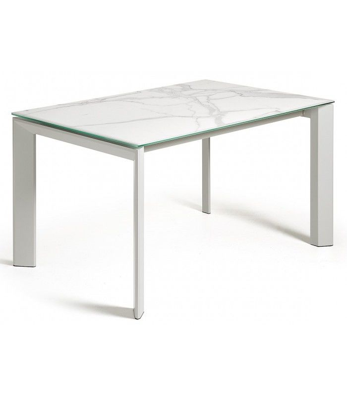 Extensible de table 160 atta 220 x 90 hne ep blanco for Table extensible 160